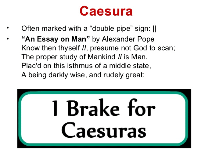 Caesura in Poetry: Definition & Examples